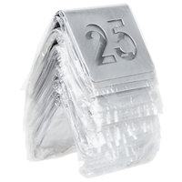 Tablecraft TC125 1 to 25 Stainless Steel Table Tent Cut-Out Number