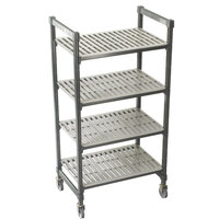 Cambro Camshelving Premium CPMU214275V4480 Mobile Shelving Unit with Premium Locking Casters 21 inch x 42 inch x 75 inch - 4 Shelf