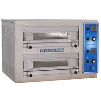 Bakers Pride EP-2-2828 Double Deck Countertop Electric Pizza Deck Oven - 220/240V, 1 Phase