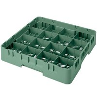 Cambro 16S1114119 Camrack 11 3/4 inch High Sherwood Green 16 Compartment Glass Rack
