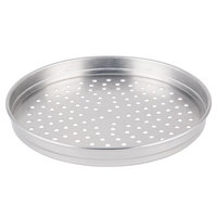 American Metalcraft PHA5114 5100 Series 14 inch Perforated Heavy Weight Aluminum Straight Sided Self-Stacking Pizza Pan