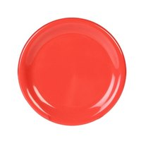 9 1/4 inch Orange Wide Rim Melamine Plate - 12/Pack