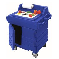 Cambro KWS40186 Navy Blue CamKiosk Food Preparation / Counter Work Station Cart