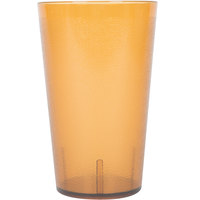 32 oz. Amber Pebbled Plastic Tumbler - 12/Pack
