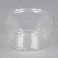 Fabri-Kal Alur RD5 5 oz. Recycled Customizable Clear PET Plastic Round Deli Container 1000 / Case
