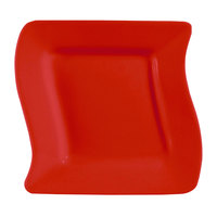 CAC SOH-8R Color Soho 8 1/2 inch Red Square Stoneware Plate - 24/Case