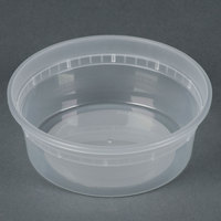 Newspring L5008Y 8 oz. Translucent Round Deli Container - 480 / Case