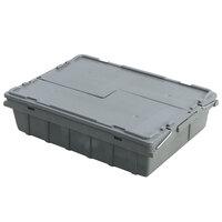 Vollrath 52649 Tote 'N Store 18 3/4 inch x 13 1/4 inch x 4 5/8 inch Gray Buffetware Box