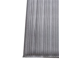 Ribbed Gray Tredlite Vinyl Anti-Fatigue Mat 72 inch Wide - 3/8 inch Thick