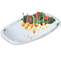 Vollrath 47251 Mirror-Finished Stainless Steel Cater Tray with Embossed Rim 19 inch x 12 1/4 inch