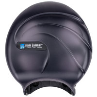 San Jamar R2090TBK Oceans 9 inch Single Roll Jumbo Toilet Tissue Dispenser - Black Pearl