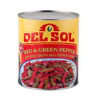 #10 Can Mixed Red and Green Pepper Strips   - 6/Case