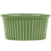 CAC RKF-6GREEN Festiware 6 oz. Green China Fluted Ramekin - 36/Case