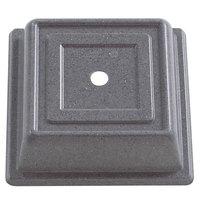 Cambro 85SFVS191 Versa Camcover 8 1/2 inch Granite Gray Square Plate Cover - 12/Case
