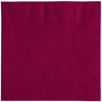 "Choice 10"" x 10"" Burgundy 2-Ply Customizable Beverage / Cocktail Napkin - 1000/Case"