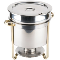 Choice 11 Qt. Deluxe Gold Accent Marmite Soup Chafer