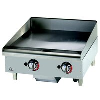 Star Max 524CHSF 24 inch Countertop Electric Griddle with Chrome Plate and Snap Action Thermostatic Controls - 8000W