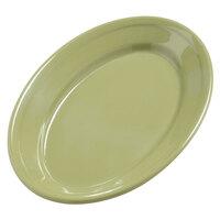 Carlisle 4387282 9 1/4 inch x 6 1/4 inch Wasabi Dayton Oval Platter - 24/Case