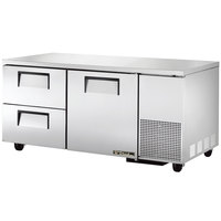 True TUC-67D-2 67 inch Deep Undercounter Refrigerator with One Door and Two Drawers