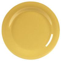 Carlisle 4300222 Durus 10 1/2 inch Honey Yellow Narrow Rim Melamine Plate - 12/Case