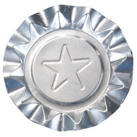 Disposable Aluminum Foil Ash Tray with Silver Star Design - 250 / Pack