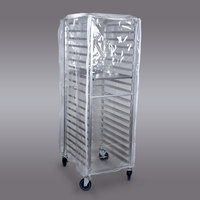 Curtron SUPRO-14-EC Clear Bun Pan Rack Cover - 14 Mil