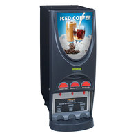 Bunn 38600.0006 iMIX-3S+ BLK Iced Coffee Dispenser with 3 Hoppers - 120V