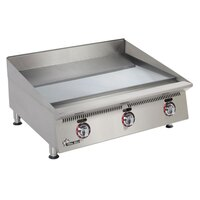 Star 824TSCHSA Ultra Max 24 inch Countertop Gas Griddle with Snap Action Thermostatic Controls and Chrome Plate - 80,000 BTU