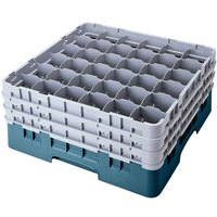 Cambro 36S1214414 Teal Camrack 36 Compartment 12 5/8 inch Glass Rack