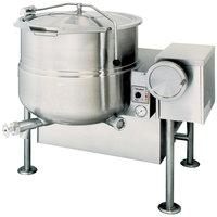Cleveland KGL-80-T Liquid Propane 80 Gallon Tilting 2/3 Steam Jacketed Kettle - 190,000 BTU