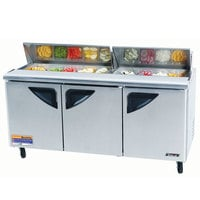 Turbo Air TST-72SD 72 inch Super Deluxe Refrigerated Sandwich / Salad Prep Table