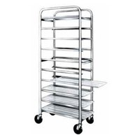 Winholt AL-1012 End Load Aluminum Platter Cart - Twelve 10 inch Trays