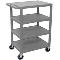 Luxor / H. Wilson BC45 Gray 4 Shelf Serving Cart - 18 inch x 24 inch x 36 inch