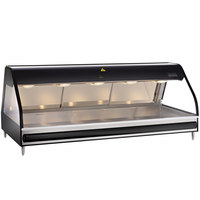 Alto-Shaam ED2-72/PL BK Black Heated Display Case with Curved Glass - Left Self Service 72 inch