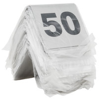 Tablecraft T2650 26 to 50 Stainless Steel Table Tent Number