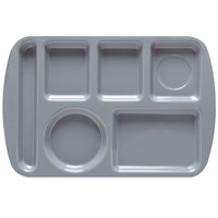 GET TL-151 French Blue Melamine 9 1/2 inch x 14 3/4 inch Left Hand 6 Compartment Tray - 12 / Pack