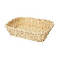 GET WB-1508-N 11 1/2 inch x 8 1/2 inch x 2 3/4 inch Designer Polyweave Natural Rectangular Basket - 12 / Case