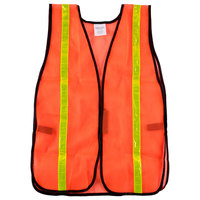 Orange High Visibility Safety Vest with Velcro® Closure and 1 inch Reflective Tape
