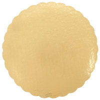 14 inch Cake Circle Gold Laminated Corrugated - 50/Case