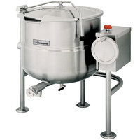 Cleveland KDL-60-T 60 Gallon Tilting 2/3 Steam Jacketed Direct Steam Kettle