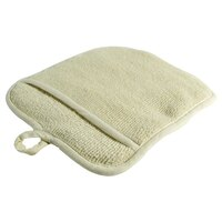 Choice Terry Cloth Pot Holder with Pocket - 8 1/2 inch x 9 1/2 inch