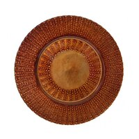 10 Strawberry Street AZT-340(CPR) 13 inch Aztec Copper Glass Charger Plate