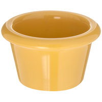 Carlisle S27522 1.5 oz. Honey Yellow Smooth Plastic Ramekin   - 48/Case