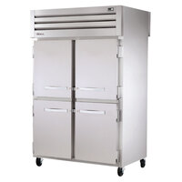 True STR2RPT-4HS-2S Specification Series Two Section Pass-Through Refrigerator with Solid Half Front Doors and Solid Full Rear Doors - 56 Cu. Ft.