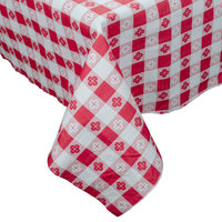 Hoffmaster 220670 54 inch x 108 inch Cellutex Red Gingham Tissue / Poly Paper Table Cover - 25 / Case