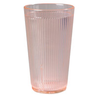 Carlisle 403452 Glo-Sunset Orange Crystalon RimGlow Tumbler 16 oz. - 48/Case