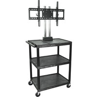 Luxor / H. Wilson WPTV44E Tuffy Flat Panel TV Cart with 3 Shelves for 32 inch to 60 inch Screens
