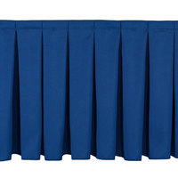 National Public Seating SB16-36 Navy Box Stage Skirt for 16 inch Stage - 36 inch Long