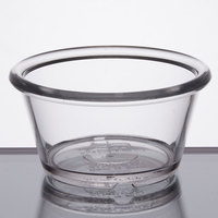 GET ER-025-CL 2.5 oz. Clear Smooth Plastic Ramekin - 12/Pack