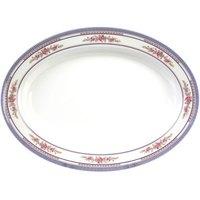 Rose 14 1/8 inch x 10 5/8 inch Oval Melamine Deep Platter - 12/Pack